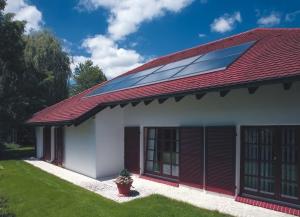dachintegrierte Solaranlage